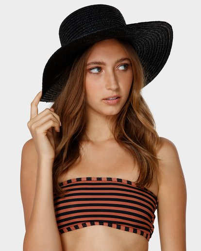 3 BOATER STRAW HAT Black 6691311 Billabong