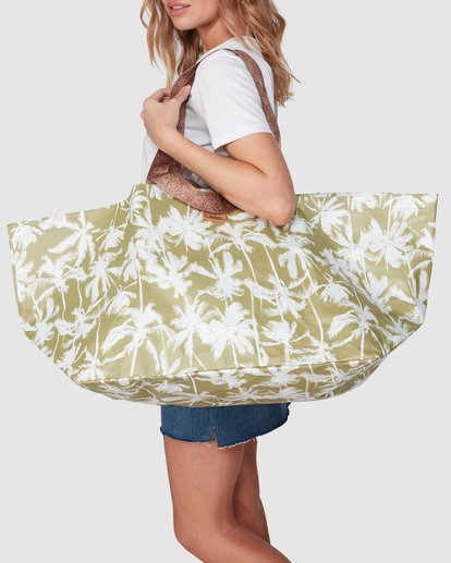 6 KOLLAB PRETTY PALMS BEACH BAG Green 6692144M Billabong