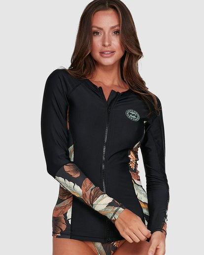 0 Tropicale Long Sleeve Rash Vest Black 6703008 Billabong