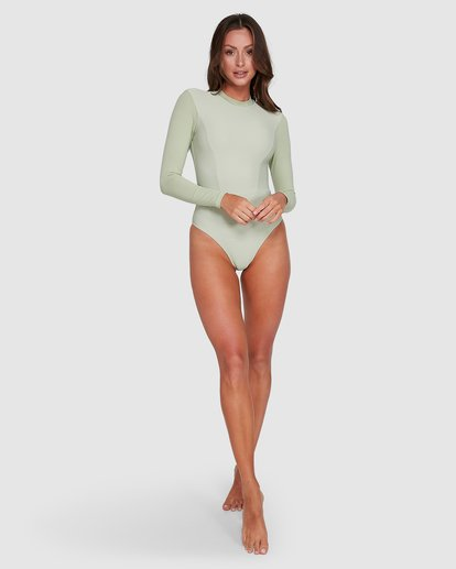 5 Marina Bodysuit Rash Vest Green 6703011 Billabong