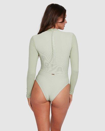 3 Marina Bodysuit Rash Vest Green 6703011 Billabong