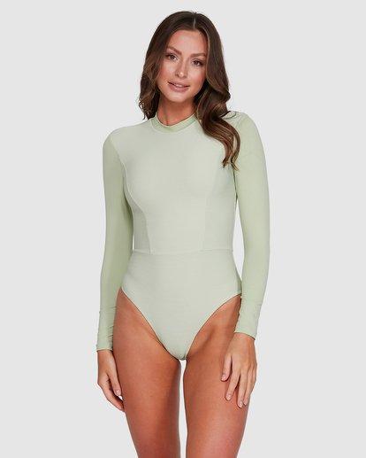 1 Marina Bodysuit Rash Vest Green 6703011 Billabong