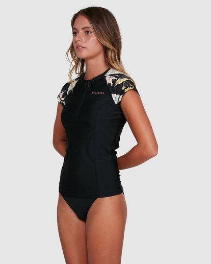 1 Maui Babe Short Sleeve Rash Vest Black 6704001 Billabong