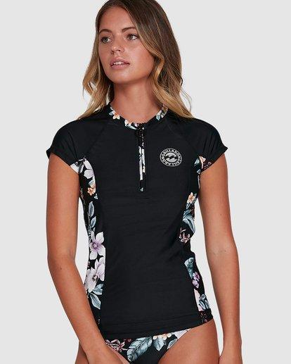 0 Tiki Short Sleeve Rash Vest Black 6704006 Billabong