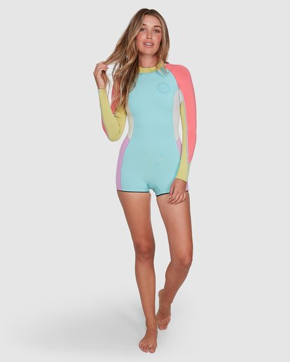 5 Spring Fever Long Sleeve Springsuit Blue 6704503 Billabong