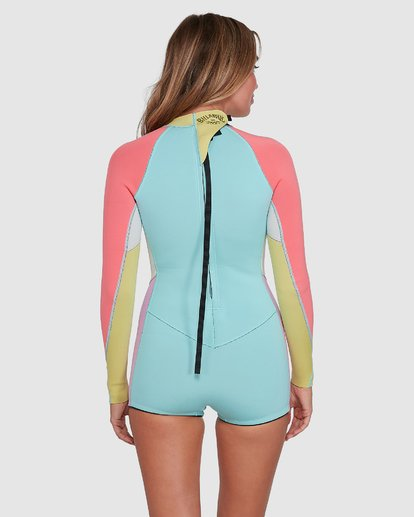 2 Spring Fever Long Sleeve Springsuit Blue 6704503 Billabong