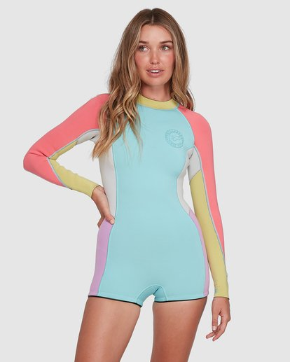 0 Spring Fever Long Sleeve Springsuit Blue 6704503 Billabong