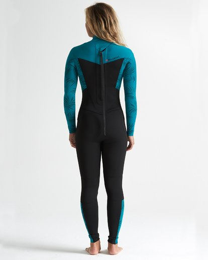 2 302 Synergy Back Zip Flatlock Full Suit Blue 6707700 Billabong
