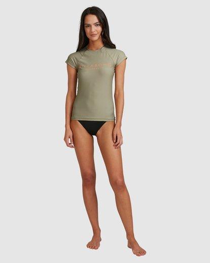 4 Serenity Short Sleeve Rashie Grey 6713006 Billabong
