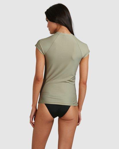 2 Serenity Short Sleeve Rashie Grey 6713006 Billabong