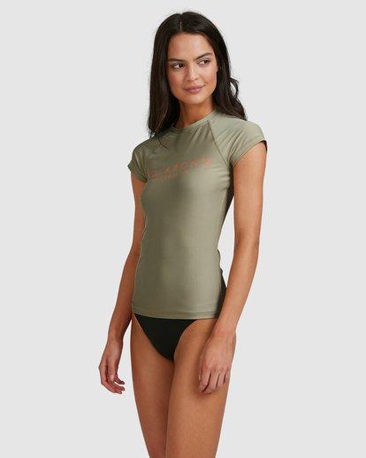 1 Serenity Short Sleeve Rashie Grey 6713006 Billabong