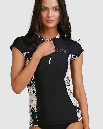 3 Tropicool Short Sleeve Rashie Black 6713009 Billabong