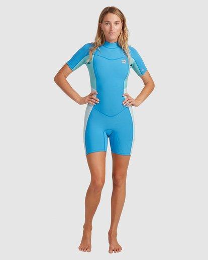4 2/2 Synergy Back Zip Springsuit Wetsuit Blue 6713400 Billabong