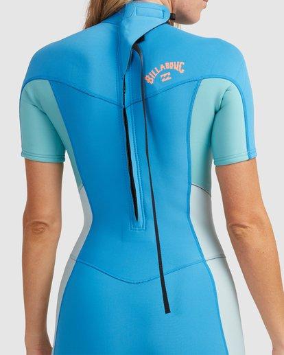 3 2/2 Synergy Back Zip Springsuit Wetsuit Blue 6713400 Billabong