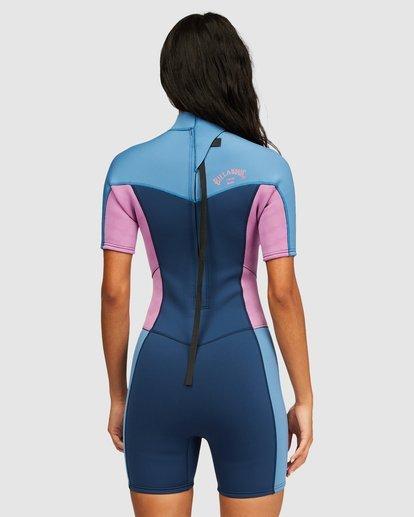 2 2/2 Synergy Back Zip Springsuit Wetsuit Blue 6713400 Billabong