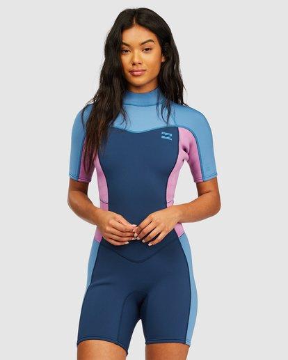 0 2/2 Synergy Back Zip Springsuit Wetsuit Blue 6713400 Billabong