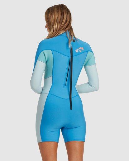 2 2/2 Synergy Back Zip Springsuit Wetsuit Blue 6713401 Billabong