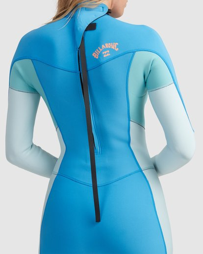 3 2/2 Synergy Back Zip Springsuit Wetsuit Blue 6713401 Billabong