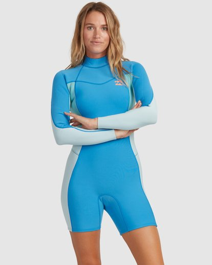 0 2/2 Synergy Back Zip Springsuit Wetsuit Blue 6713401 Billabong