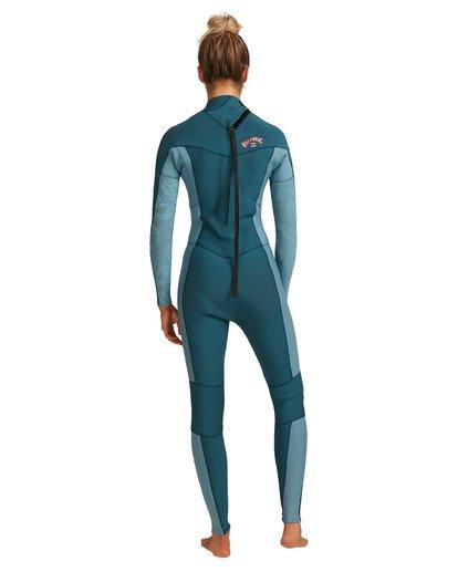 8 3/2 Synergy Back Zip Long Sleeve Flatlock Fullsuit Blue 6717700 Billabong