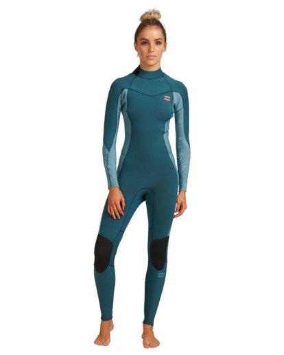6 3/2 Synergy Back Zip Long Sleeve Flatlock Fullsuit Blue 6717700 Billabong