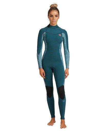 7 3/2 Synergy Back Zip Long Sleeve Flatlock Fullsuit Blue 6717700 Billabong