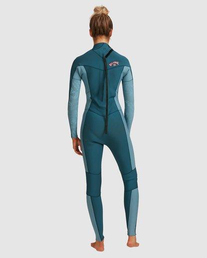 2 3/2 Synergy Back Zip Long Sleeve Flatlock Fullsuit Blue 6717700 Billabong