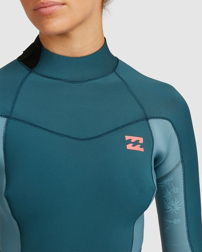 3 3/2 Synergy Back Zip Long Sleeve Flatlock Fullsuit Blue 6717700 Billabong