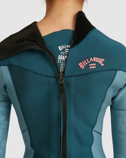 4 3/2 Synergy Back Zip Long Sleeve Flatlock Fullsuit Blue 6717700 Billabong