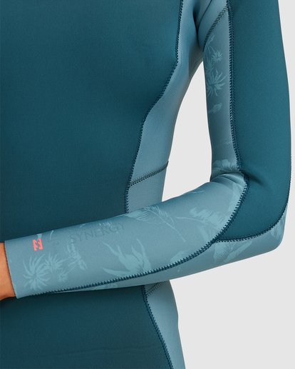 5 3/2 Synergy Back Zip Long Sleeve Flatlock Fullsuit Blue 6717700 Billabong
