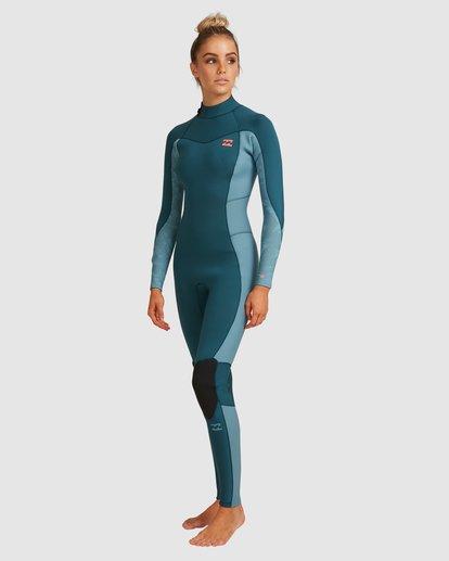 1 3/2 Synergy Back Zip Long Sleeve Flatlock Fullsuit Blue 6717700 Billabong