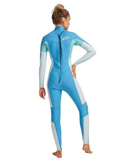 8 3/2 Synergy Back Zip Steamer Wetsuit Blue 6717810 Billabong