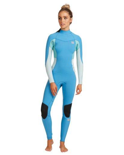 6 3/2 Synergy Back Zip Steamer Wetsuit Blue 6717810 Billabong