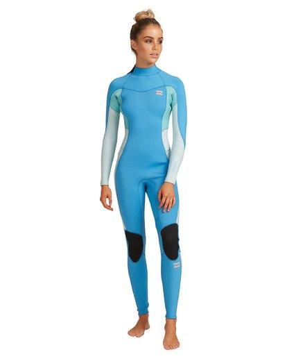 7 3/2 Synergy Back Zip Steamer Wetsuit Blue 6717810 Billabong
