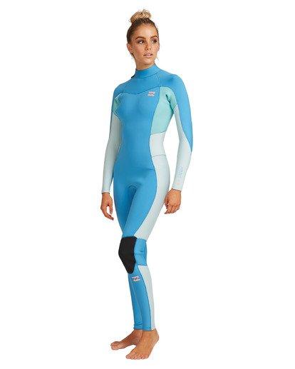 9 3/2 Synergy Back Zip Steamer Wetsuit Blue 6717810 Billabong