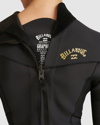 5 3/2 Synergy Back Zip Gbs Fullsuit Black 6717810 Billabong