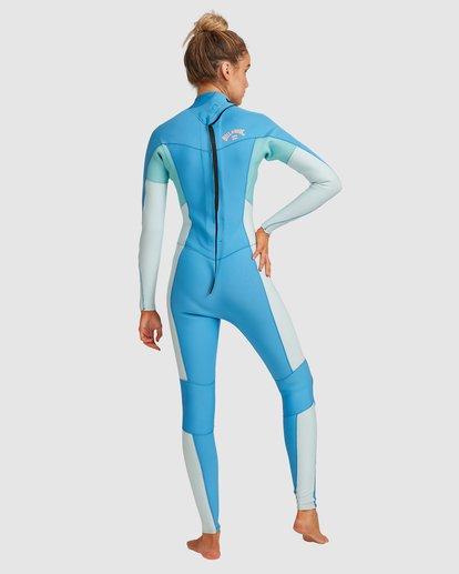 2 3/2 Synergy Back Zip Steamer Wetsuit Blue 6717810 Billabong