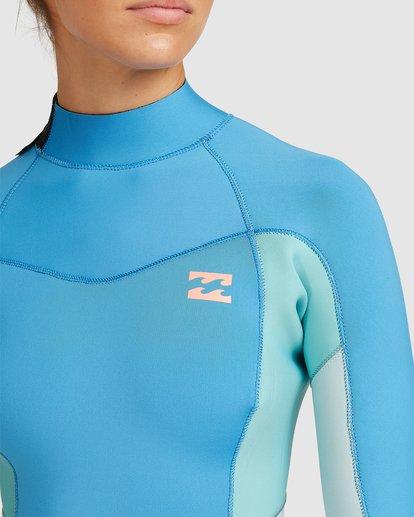 3 3/2 Synergy Back Zip Steamer Wetsuit Blue 6717810 Billabong