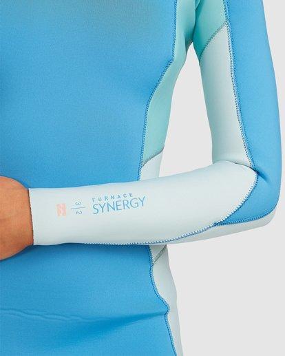 4 3/2 Synergy Back Zip Steamer Wetsuit Blue 6717810 Billabong