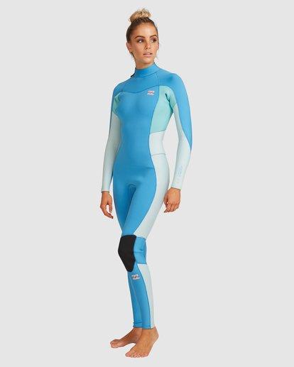 1 3/2 Synergy Back Zip Steamer Wetsuit Blue 6717810 Billabong
