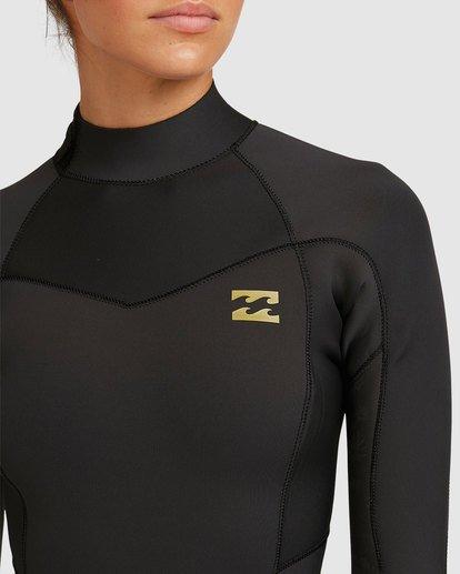 3 4/3 Synergy Back Zip Gbs Fullsuit Black 6717816 Billabong