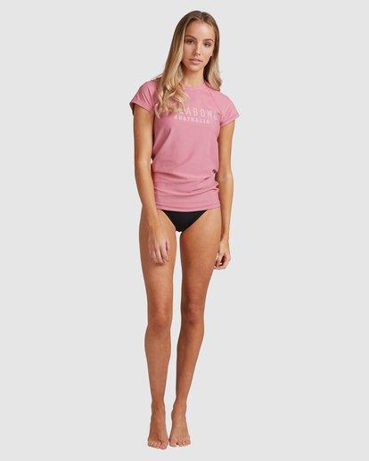10 Mighty Fine Short Sleeve Rashie Pink 6781001 Billabong