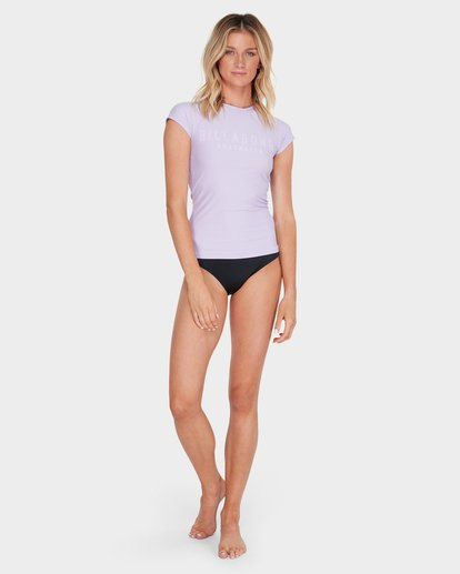 3 Mighty Fine Short Sleeve Rashie Purple 6781001 Billabong