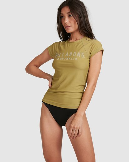 0 Mighty Fine Rash Vest Green 6781001 Billabong