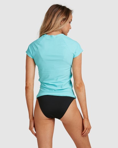 3 Mighty Fine Short Sleeve Rash Vest Blue 6781001 Billabong