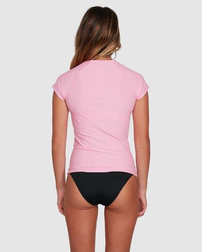3 Mighty Fine Short Sleeve Rashie Pink 6781001 Billabong