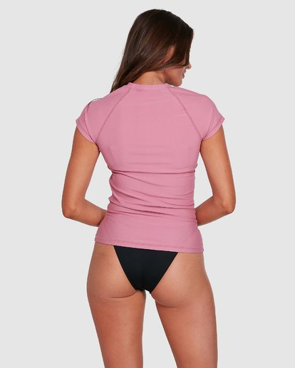 7 Mighty Fine Short Sleeve Rashie Pink 6781001 Billabong