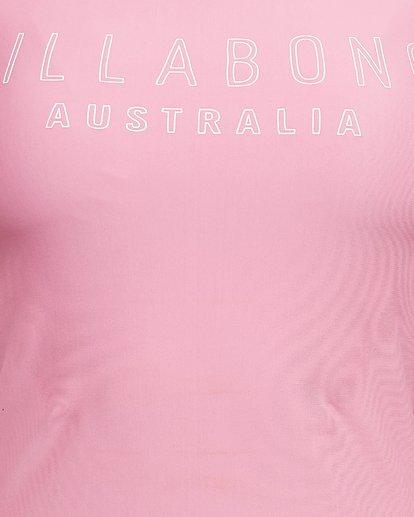 9 Mighty Fine Short Sleeve Rashie Pink 6781001 Billabong
