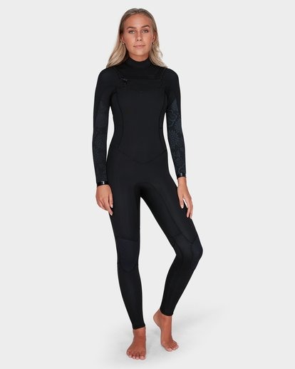 5 LADIES SYNERGY 302 CHEST ZIP FULL SUIT Black 6783818 Billabong