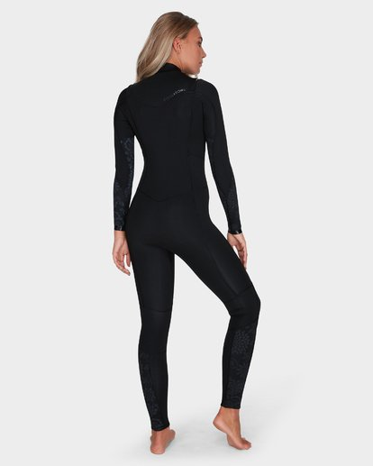 2 LADIES SYNERGY 302 CHEST ZIP FULL SUIT Black 6783818 Billabong